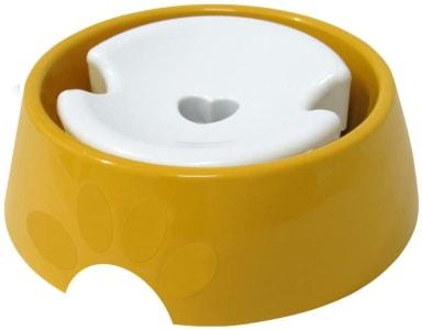 Bebedouro Plástica Pop Pelos Longos N.3, 1,000ml Amarelo Furacão Pet para Cães