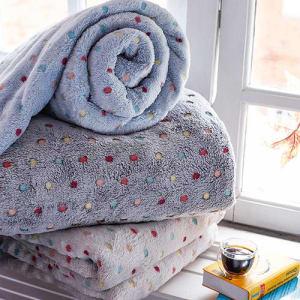[3 cores] Cobertor Solteiro Fleece Confete Azul - Casa & Conforto