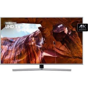 """Smart TV LED 65"""" Samsung RU7400 UN65RU7400GXZD Ultra HD 4K HDMI, USB, Wi-Fi Prata"""