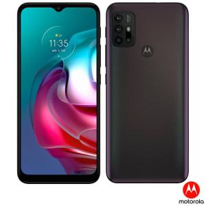 "Smartphone Motorola Moto G30 4GB RAM 128GB 4G Tela 6,5"" Câm. Quádrupla + Selfie 13MP Dark Prism"