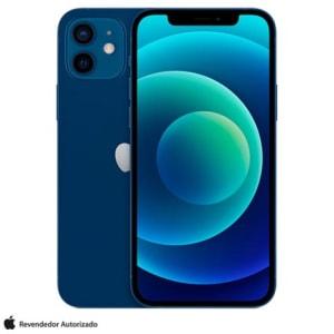 """iPhone 12 128GB Azul, com Tela de 6,1"""", 5G e Câmera Dupla de 12 MP - MGJE3BR/A"""