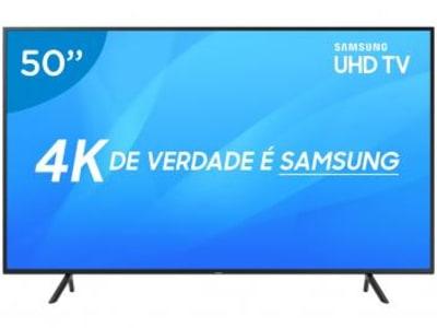 "Smart TV LED 50"" Samsung 4K/Ultra HD NU7100 - Tizen Conversor Digital Wi-Fi 3 HDMI 2 USB DLNA - Magazine Ofertaesperta"