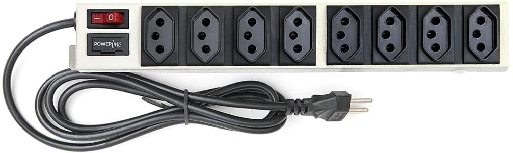 Filtro de Linha Power Line de 8 tomadas em Gabinete Metálico