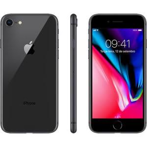 """iPhone 8 Cinza Espacial, com Tela de 4,7"""", 4G, 64 GB e Câmera de 12 MP - MQ6G2BR/A-AEMQ6G2BRACNZB"""