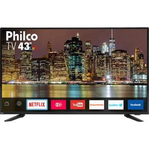 "Smart TV LED 43"" Philco PTV43E60SN Full HD com Conversor Digital 3 HDMI 2 USB Wi-Fi  MidiaCast"