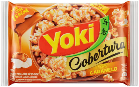 10 Unidades - Popcorn Micro Cobertura Caramelo Yoki 160g