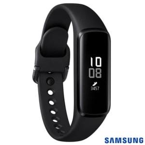 """Galaxy Fit e Samsung Preto com 0,74"""", Pulseira em TPU, Bluetooth 5.0 e 4 MB"""