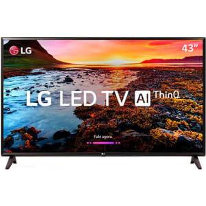 "Smart TV LED LG 43"" 43LK5750 Full HD com Conversor Digital 2 HDMI 1 USB Wi-Fi Thinq Ai Webos 4.0 60Hz - Preta"