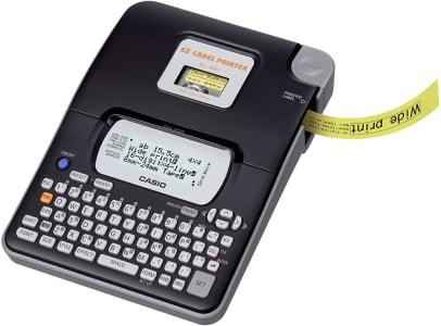 Etiquetadora LCD Grande 16 Dígitos e 4 Linhas, Casio, KL-820, Preto