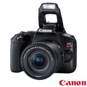 """Câmera Digital Canon SL3 DSLR com 24.1MP 3"""" Gravação em Full HD - EF-S 18-55MM"""