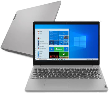 """Notebook Lenovo IdeaPad 3i Intel Core i3-10110U 4GB RAM 256 GB SSD Windows 10 15.6"""" Prata - 82BS0006BR"""
