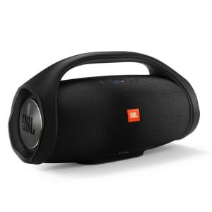 Oferta ➤ Caixa de Som Portátil JBL Boombox com Bluetooth, Connect+, À prova d'água – Preta   . Veja essa promoção