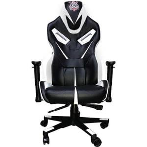 Cadeira Gamer Mymax Corinthians Giratória Preta/Branca (Cód. 133540941)