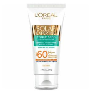 Oferta ➤ Protetor Solar LOréal Paris Solar Expertise Facial Toque Seco FPS 60 – 50g   . Veja essa promoção