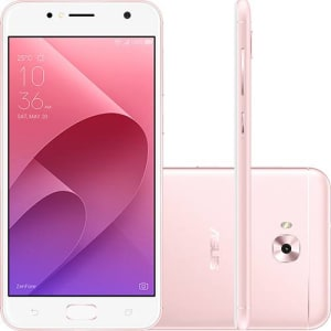 Smartphone Asus ZenFone Selfie Dual Chip Android Nougat 7.0 Tela 5.5 Qualcomm Snapdragon 16GB 4G Câmera 13MP + Frontal 13MP - Rosa