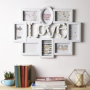 Porta-Retrato com LED Love Branco - Orb