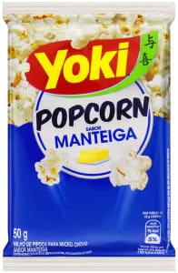 5 unidades Popcorn Micro Manteiga Yoki 50g