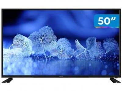 "Smart TV 4K DLED 50"" Cobia Wi-Fi - Conversor Digital 3 HDMI 2 USB - Magazine Ofertaesperta"