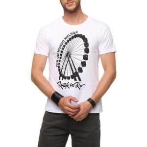 Camisa Roda Gigante - Branca - Masculina - Dimona