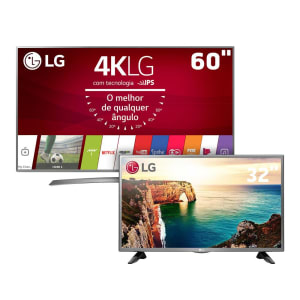 "Smart TV LED 60"" Ultra HD 4K LG 60UJ6585 + Smart TV LED 32"" HD LG 32LJ600B"
