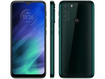 "Smartphone Motorola One Fusion 64GB Verde - Esmeralda 4G 4GB RAM Tela 6,5"" Câm. Quádrupla - Magazine Ofertaesperta"