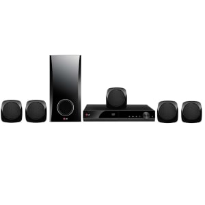 Home Theater LG DH4130S 5.1 Canais com DVD Player, Karaokê, Entrada USB e Cabo HDMI – 330 W