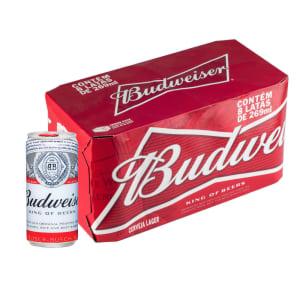 Cerveja Budweiser Lata 269ml Caixa com 08 Unidades