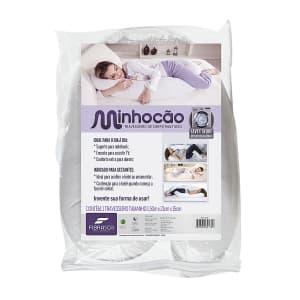 Travesseiro de Corpo Fibra Siliconizada 150X21cm Fibrasca Minhocão 4178 Branco 1 Peça