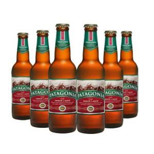 Cerveja Patagonia Amber Lager Long Neck 355ml - Caixa com 6 unidades