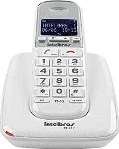 Telefone sem Fio Digital, Intelbras, TS 63 V, Branco