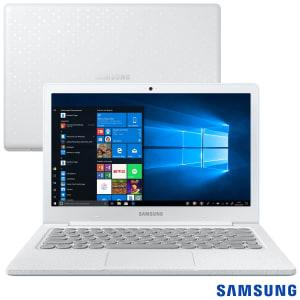 """Notebook Samsung Intel Celeron N4000, 4GB 128GB Tela 13,3"""" Branco Giz Flash F30 - NP530XBB-AD2BR"""