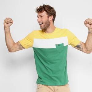Camiseta GONEW Brasil c/ Bolso Masculina - Verde