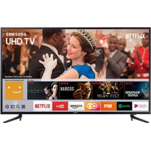 Oferta ➤ Smart TV LED 58″ Samsung 58mu6120 Ultra HD 4K com Conversor Digital Integrado 3 HDMI 2 USB Wi-Fi Smart Tizen, Espelhamento de Tela   . Veja essa promoção