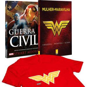Livro - Mulher-Maravilha + Guerra Civil + Camiseta