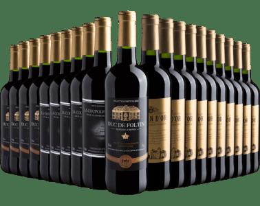 Kit 20 Vinhos Europeus por R$399