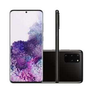 Smartphone Samsung Galaxy S20 Plus 128GB Cosmic Black 4G Tela 6.7 Câmera Quádrupla 64MP Selfie 10MP Android 10