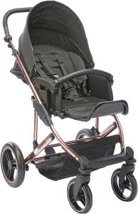 Carrinho de Bebê Merano Rose Gold com Shopping Bag + Bebê Conforto + Adaptador - Abc Design