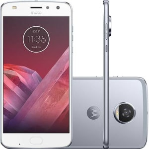 "Smartphone Motorola Moto Z2 Play Camera 360 Edition Dual Chip Android 7.0 Tela 5.5"" Octa-Core 64GB 4G Câmera 12MP - Azul Topázio"