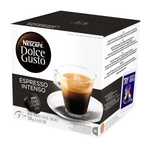 4- Caixas de Café Expresso Instantâneo Nescafé Dolce Gusto Espresso Intenso 16 Cápsulas