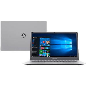 Notebook Motion Q232A Intel Atom Quad Core 2GB 32GB SSD LCD 14'' Windows 10 Prata - Positivo