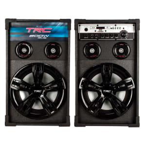 Caixa Amplificada TRC 339 200W RMS Bluetooth, USB com Rádio FM
