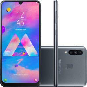 "(APP) - Smartphone Samsung Galaxy M30 64GB Dual Chip Android 8.1 Tela 6.4"" Octa-Core 4G Câmera 13MP +5MP+5MP - Preto"