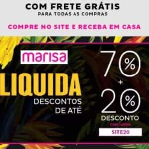 Seleção de Moda com Até 70% de Desconto + 20% Extra do Cupom SITE20 na Marisa!
