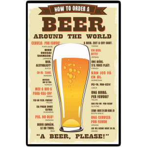Placa Decorativa 5080 A Beer Please - at.home