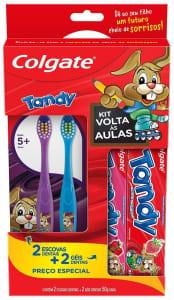 Kit Escova e Gel Dental Infantil Colgate Tandy 4 unidades Promo 2 Escovas Dentais e 2 Géis Dentais 50g com Preço Especial