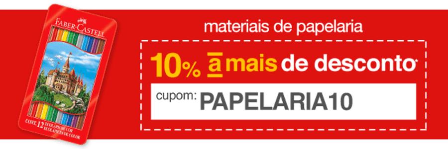 Volta as aulas na Americanas!!! Itens de papelaria com 10% de desconto com cupom!