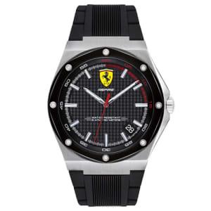 Relógio Scuderia Ferrari Masculino Borracha Preta - 830529