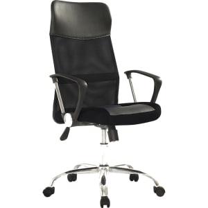 Cadeira Presidente 0030-MSC Giratória e Regulagem de Altura a Gás Preta - Travel Max