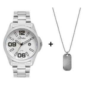 Relógio Condor Masculino Speed Prata Com Colar - co2115ksy/k3k