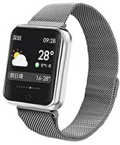 [Internacional] Relógio Smartwatch Smartband Android Iwo iPhone Samsung Moto P68 (Prateado)